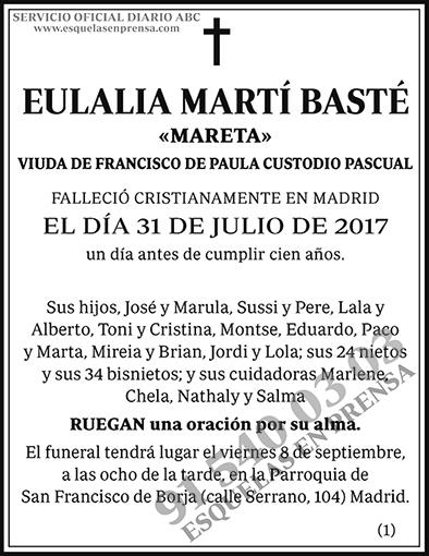 Eulalia Martí Basté